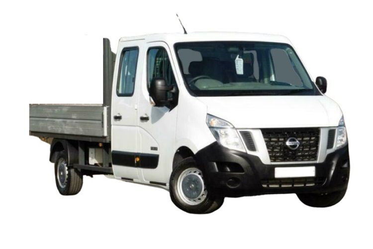 Nissan NV400 L3 35 FWD 2.3 dCi FWD 150PS Tekna Dropside Double Cab Auto [Start Stop] front view