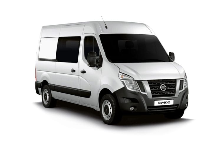Nissan NV400 L3 35 FWD 2.3 dCi FWD 150PS Acenta Crew Van Medium Roof Manual [Start Stop] front view
