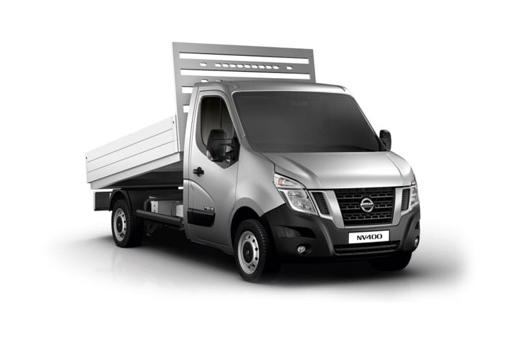 Nissan NV400 L3 35TW RWD 2.3 dCi DRW 145PS Acenta Tipper Double Cab Manual [Start Stop] front view